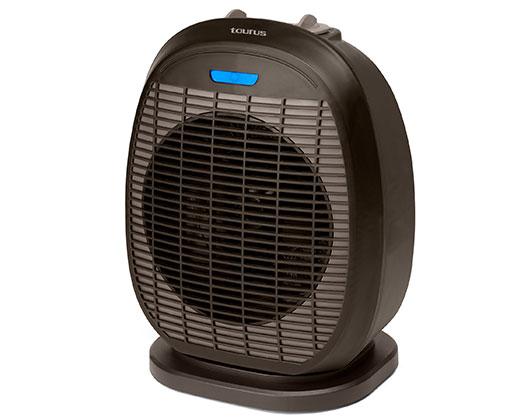"Taurus Heater Oscillating Floor Fan Black 2Heat Settings 2400W ""Tropicano 3.5 Oscillating"""