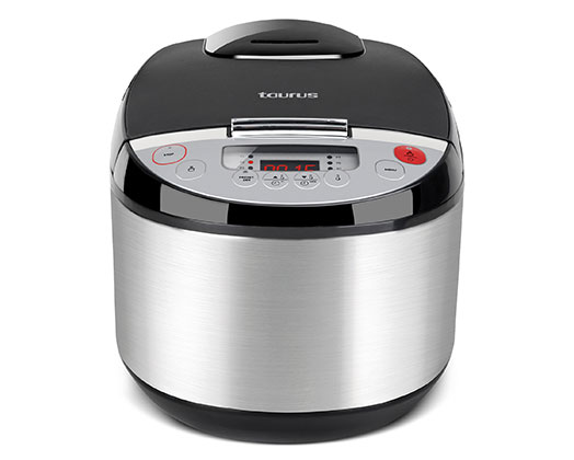 "Taurus Multi Cooker Digital Stainless Steel Black 5L 900W ""Top Cuisine"""