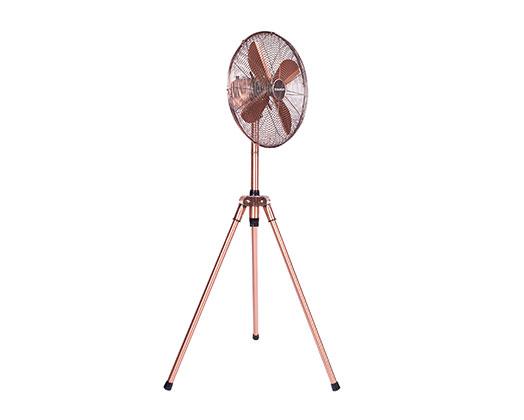 Taurus Fan 3 Speed Height Adjustable Pedestal Steel Copper 40cm 50W