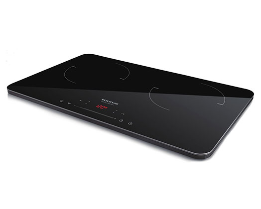 """Taurus Induction Cooker Double LED Display Crystal Black Variable Heat Settings 3500W """"Darkfire Double"""""""