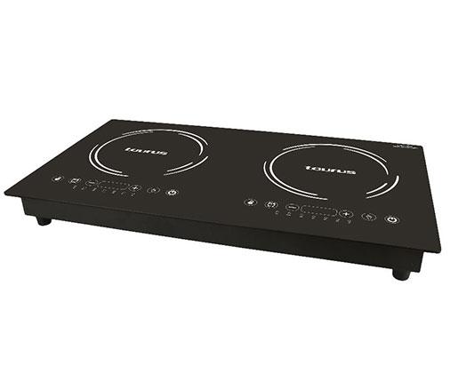 "Taurus Induction Cooker LED Display Crystal Black Variable Heat Settings 3000W ""Induccion Estufa"""