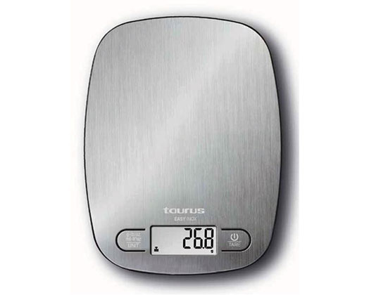 "Taurus Kitchen Scale Digital Stainless Steel Brushed 5kg 3V ""Easy Inox"""