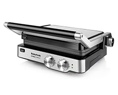 "Taurus Panini Press Adjustable Temperature Stainless Steel Black 29X23cm 2000W ""Asteria Complete"""