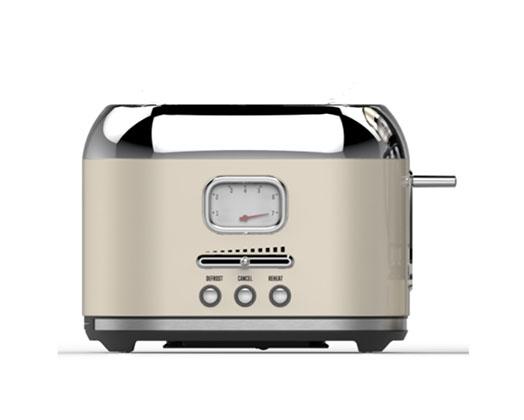 Taurus Toaster 2 Slice Stainless Steel Cream 6Heat Settings 1000W