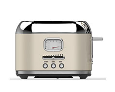 Taurus Toaster 2 Slice Stainless Steel Cream 6Heat Settings 1000W