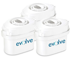 """Evolve"" 3 Pack - Water Filter"