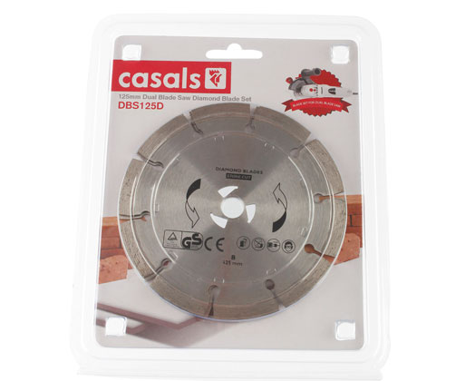125mm Dual Blade Saw Diamond Blade Set