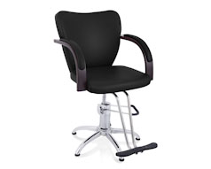 Black Retro Styling Swivel Chair