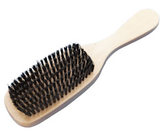 Large Wooden Paddle - Bristle Hair Brush