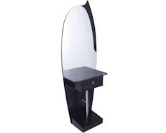 Shelf and Drawer Single Sided Mirror Styling Station