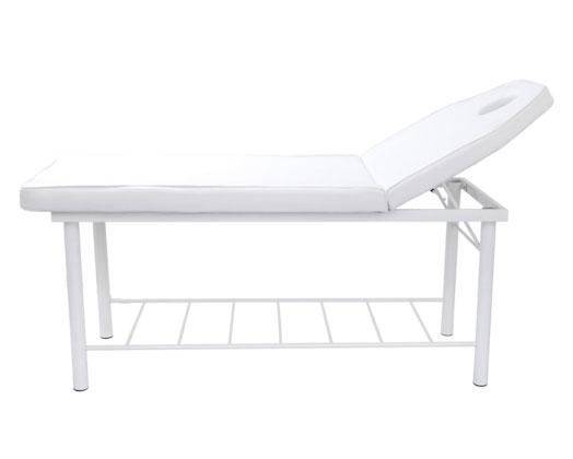 Adjustable Head Support Massage Bed - White