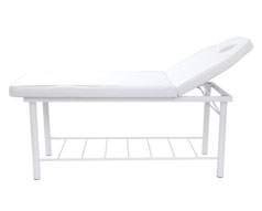 Adjustable Head Support Massage Bed - White