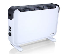 White 2000W Heater Convection with Turbo Fan