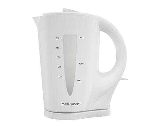 """Mellerware Kettle Cordless Plastic White 1.7L 2200W """"Sabie"""""""