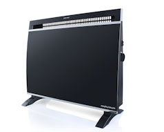 Black Wall Mount Panel Heater