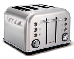 Brushed Stainless Steel Accents Toaster