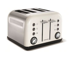 1800W White Accents 4 Slice Toaster